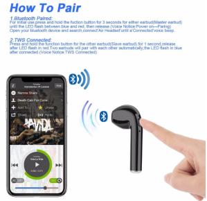 i7 Bluetooth Wireless Headphones connecting