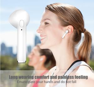 i7 Bluetooth Wireless Headphones wearing